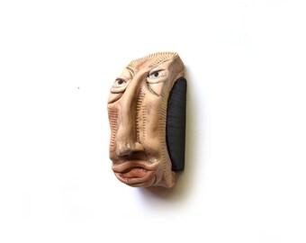 Unique ceramic sculpture, Wall Art ceramic, Modern ceramic, Contemporary art, Contemporary sculpture, 3D wall sculpture, Ceramic face