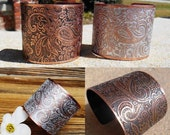 Paisley Jewelry, Paisley Cuff, Paisley Bracelet, Wide Cuff Bracelet, Copper Bracelet, Handmade Jewelry, Ready to Ship, Unique Gift for Her