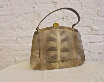 50s Palizzio Lizard Bag - Looks Unused - Stunning Skin - Classic Style