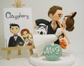 Star wars and Disney theme custom wedding cake topper