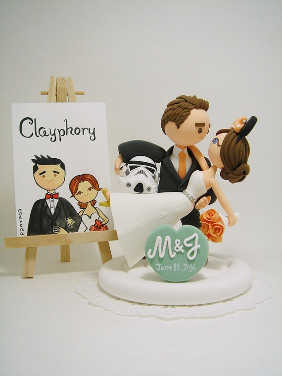 disney themed wedding cake toppers wars and disney theme custom wedding cake topper 13573