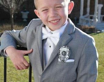 Ring Security Badge- Boys Wedding Gift for the Ring Bearer - Wedding Keepsake - Texas Ranger Star or Police Badge Style