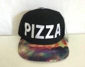 Pizza Galaxy Snapback Cosmic Stars Colors Multicolor Snap Back
