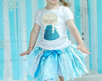 Elsa Applique Personalized Shirt