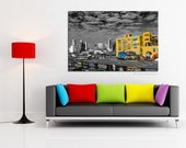 New York photography, Graffiti art canvas large Canvas art, NYC decor black and white photography, New York bedroom decor, bathroom decor