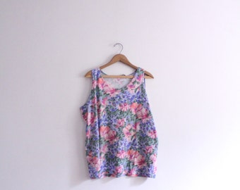 Baggy Flower 90s Tank Top