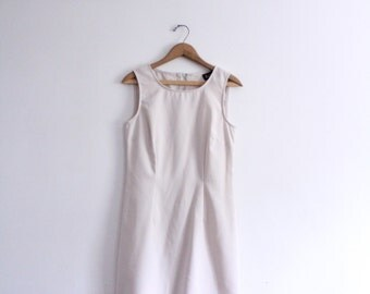 Minimal Beige 90s Mini Dress