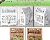 Plotterdatei - 3D Gewächshaus mit Schloß /PD011
