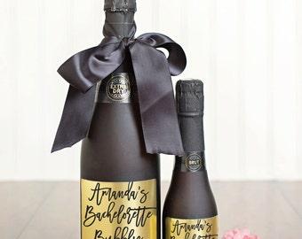 Bachelorette Bubbly Champagne Labels \\ Favor \\ Mini or Regular Size