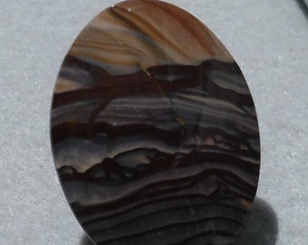 Handmade Natural Bigg's Picture Jasper Cabochon from Oregon 52mm x 38mm Oval #250-2324