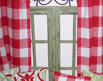 Red Gingham Check Etsy