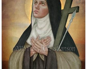 St. Mary Magdalen de Pazzi, Art Print, Catholic Patroness  against illness & sexual temptation #4253
