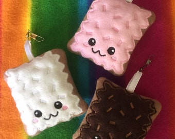 Neapolitan Poptart Clips Keychains (Set of 3)