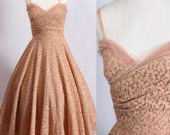 1950's Cinnamon Sugar Party Dress