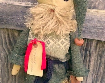 Primitive Santa Claus-Gingerbread Santa Doll