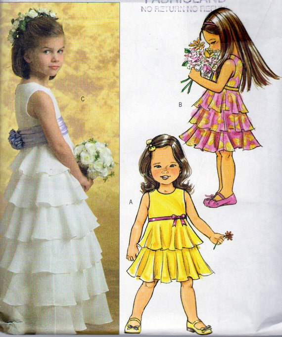 Dresses For Special Occasions Canada: Butterick 4967 Girls Size 2345 Special Occasion Dress
