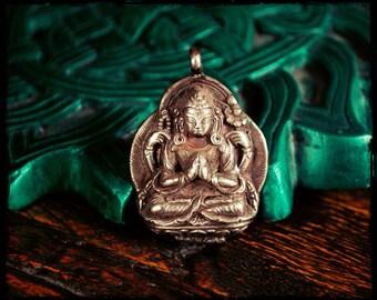 Chenrezig Amulet from Nepal
