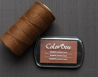 Cocoa Color Box Ink Pad - Archival Pigment Ink (Item 15053)