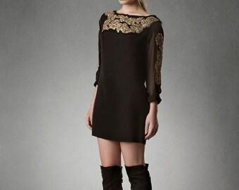 CHARM 3/4 Sleeve Micro Dress