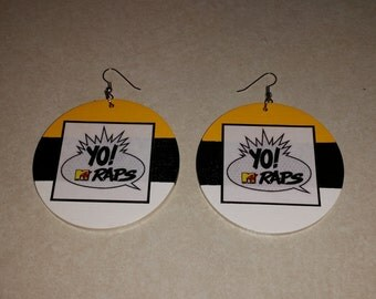 Back to Back Yo! MTV Raps Framed Earrings (2 or 2.5 inches)