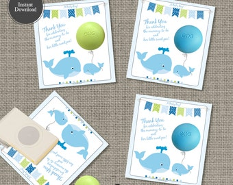 baby shower gift tags for eos lip balm gifts instant download thank you tags