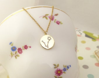 Pisces Constellation Necklace,Pisces Necklace, Zodiac pisces,Pisces Pendant, Constellation Jewelry,Gift idea,zodiac jewelry