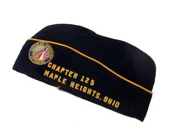 Disabled American Veterans Garrison Cap, Maple Heights OH Chapter, DAV Life Member, Officeholder, Vintage Overseas Style Uniform Hat
