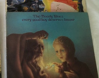 The MOODY BLUES Days of Future Passed & The Other Side of Life - CLEAN Vinyl Record Albums