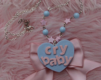 Necklace Collier Cry Baby Kawaii