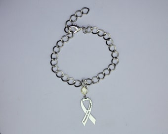 Support Our Troops Awareness Ribbon Bracelet - Yellow Ribbon Military Support