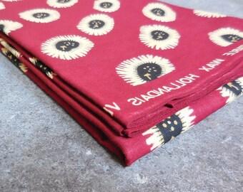 1/2 Yard African Print Fabric, Tribal Print Ethnic Fabric, Vlisco Cotton Wax Hollandais Block Print, Boho Decor, African Clothing Quilting