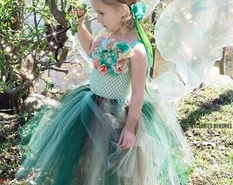 Flower girl dress - tutu dress - tulle dress -Green Tutu Dress - Fairy Dress -Infant/Toddler Dress- Pageant dress -Princess dress - Dress