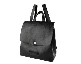 Posh backpack #toxleather | Black leather backpack | Handmade backpack