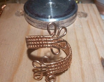 Copper wire ring. Wire wrapped ring. Womens ring. Statement ring