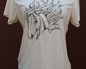 Horse Shirt / Put Your Horses Name on the Tee! / Custom Embroidered Equestrian Clothes