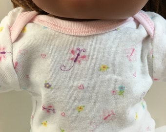"Cabbage Patch KIDS TOP Only,""Pink Butterflies,Hearts and Flowers"" T-Shirt, 16"" CPK Kids Doll, Fits 15"" Bitty Baby, Top Only- 4.00 Dollars"