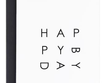 Simple Birthday Card, Happy Bday, Happy Birthday Card, Modern Birthday Card, Birthday Greeting Cards, Simple Happy Birthday Cards, Bday card