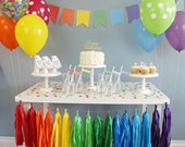 Classic Rainbow Party in a Box - Rainbow Party Decorations for Birthday Parties, Weddings - Rainbow Baby Party Package, Party Supplies