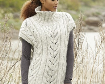 Knit poncho,Knitted poncho,Baby alpaca and merino wool poncho/ Made to order