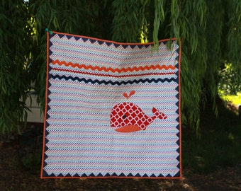 Baby Quilt - Walley the Whale