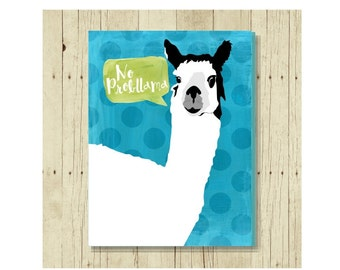 Llama Magnet, Funny Magent, Refrigerator Magnet, No Probllama, Gifts Under 10, Small Gift, Animal Art, Llama Art, Funny Pun, Animal Pun