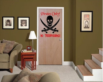 Vinyl Pirates Only Decal, Pirates Decal, Boys Room Decal