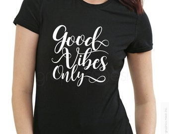 GOOD VIBES ONLY Zen typography shirt to inspire - Keep it positive Tee