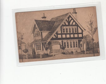 London Oetzmann's Split Style Cottage-Houses,Furnishings  Advertising Postcard C 1900's