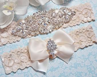 Petite / Plus Size Garter Belt, wedding garter set, bridal garter, bridal  lingerie, ivory garter, ivory wedding garter, garter, prom