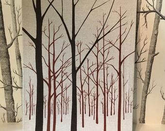 Vintage Tree Marushka Rare Textile Art Silkscreen