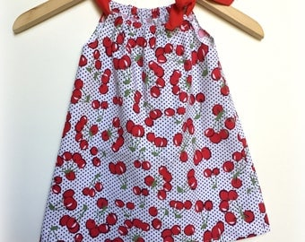 Girls Cherry Dress - Size 2