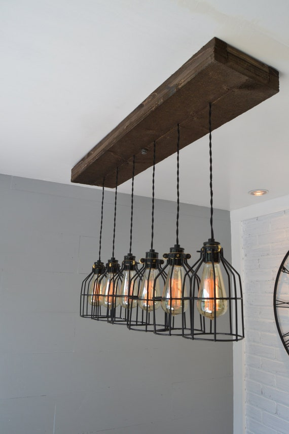 Farm House Light Pendant Lighting Wood Kitchen