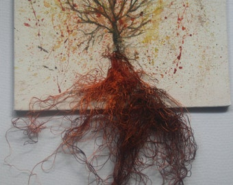 Tree and roots painting