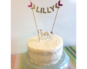 Custom Arrow Birthday Gold Glitter Cake Topper, Bunting flag banner, second birthday, one, two, cake smash , smash cake, prop
